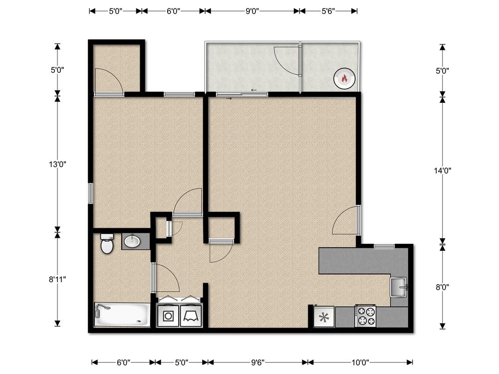 la serena the heights 1 bedroom floor plan